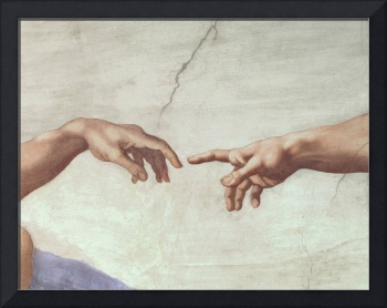 Hands of God and Adam, detail from The Creation of