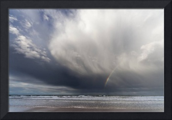 A Rainbow In The Dark Clouds Over The Ocean, Bambu