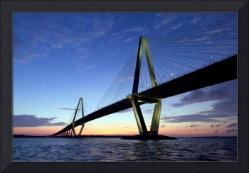 Cooper River Bridge Sunset Charleston SC