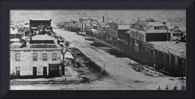HM0367 Bourke St. from Parliament House circa 1857