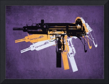 Uzi Sub Machine Gun on Purple