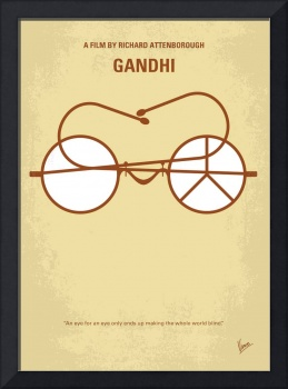 No543 My Gandhi minimal movie poster