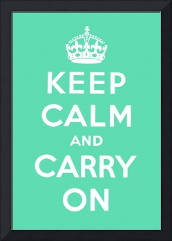 Green Keep Calm And Carry On 9