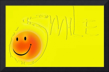 smile outline sunny face