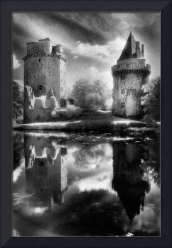 Chateau de Largoet, Brittany, France (b/w photo)