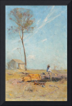 Arthur Streeton - The selector's hut (Whelan on th