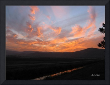 Red Blue Sunset at Hula valley - Israel