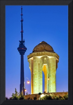 Baku Tv Tower and Eternal flame memorial