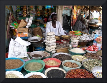 Various Market Vendors on Market with their Produc