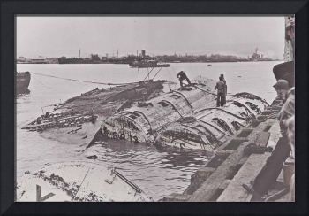 Capsized Mine Ship USS Oglala