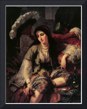 Algerian Woman and Her Slave by Ange Tissier