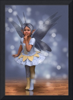 Cute Kid Fairy in Blue