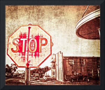 Rusted Stop Sign Still Life at Front Street