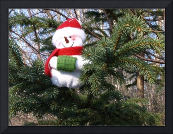 Snowman waiting for Christmas 3