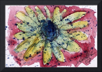 Sunflower Burst flower painting