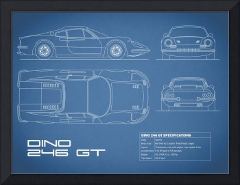 Ferrari Dino 206 Blueprint