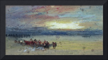 Shore Scene, Sunset by Joseph Turner