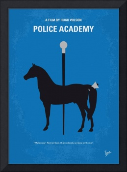No1010 My Police Academy minimal movie poster