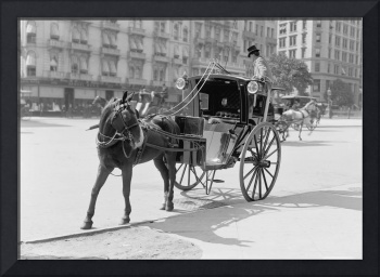 A hansom at Madison Square, New York 1900