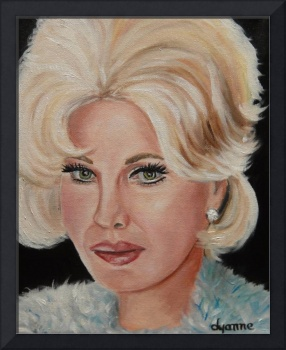 Zsa Zsa Gabor Celebrity Painting