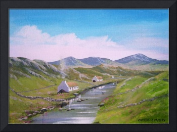 riverside cottages in co galway ireland by catmal,