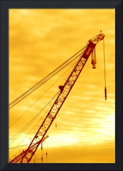 Red Crane Yellow Sky