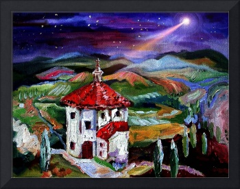 Chapel In Tuscany Oil Painting by Ginette