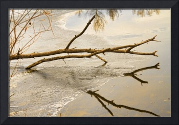Winter Lake Abstract