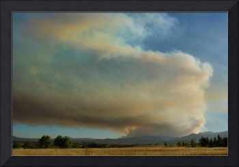 View of Colorado Fourmile Wildfire from the North.