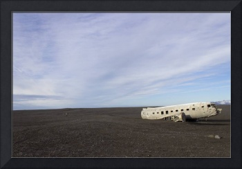 Crashed DC3 Plane on Black Beach Iceland