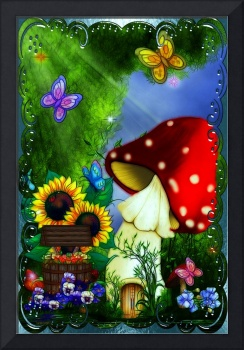 Shroom Gully Whimsical Fantasy Art
