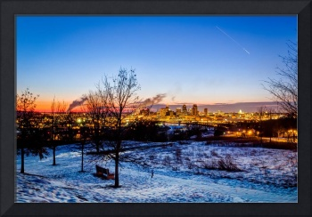 Winter skyline of St. Paul, Minnesota