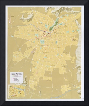 Santiago Chile Map (1987)