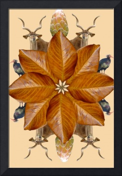 brown magnolia mandala w animals