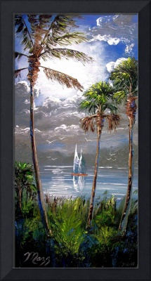 Moonlit Lake Painting