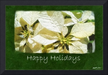 Yellow Poinsettias 2 - Happy Holidays