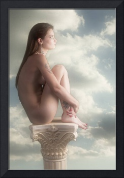 Thoughtful Nude In the Clouds Nude5038.2