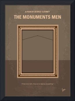 No845 My THE MONUMENTS MEN minimal movie poster
