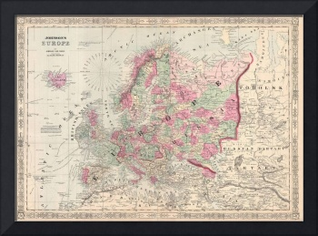 Vintage Map of Europe (1864)