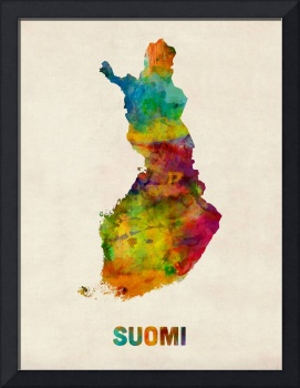 Finland Watercolor Map (Suomi)
