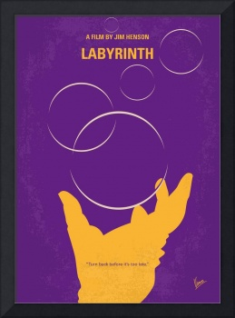 No928 My Labyrinth minimal movie poster