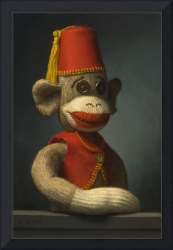 Portrait of a Monkey with Fez