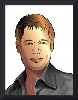 cartoon avatar portrait of Brad Pitt
