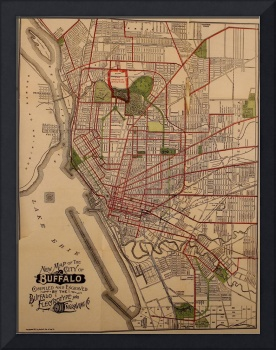 Vintage Map of Buffalo NY (1901)