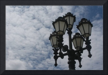 The street lamp in the sky