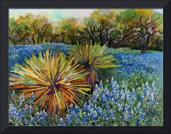 Bluebonnets and Yucca
