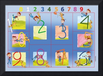 Learning the Numbers,educational big art print 12