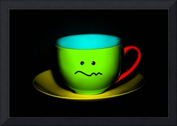 Funny Wall Art - Confused Colourful Teacup