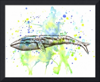 Nautical Blue Whale Art