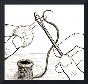 how to sew a button 1